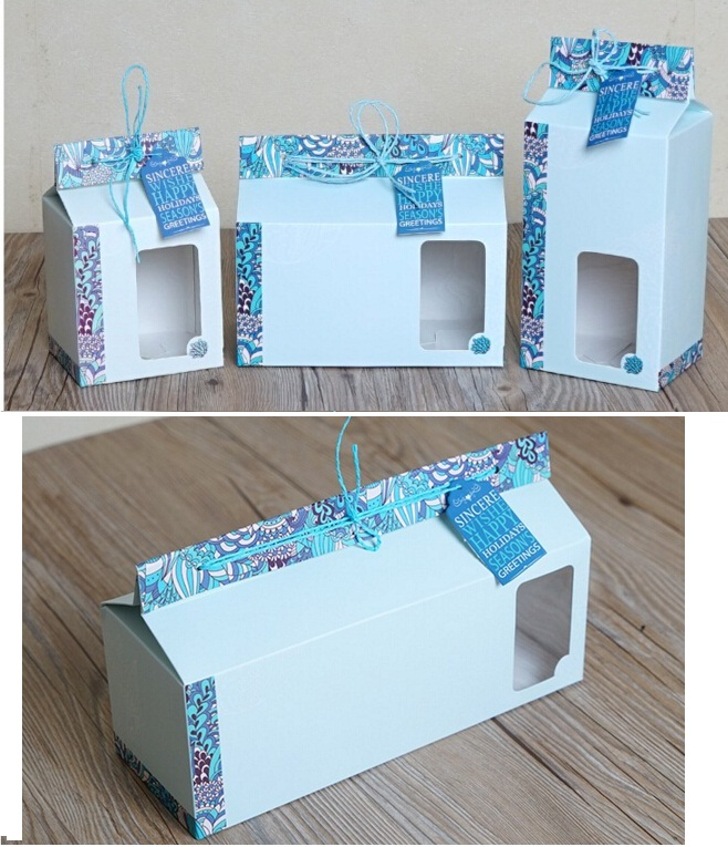 18*10*14.8 cm Blue paper box Hot sale blue flower gift box packaging,small cake boxes and packaging(China (Mainland))
