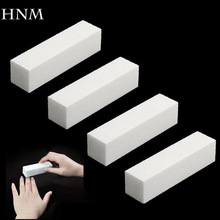 HNM 4Pcs/Lot Sanding Nail File Buffer Block for UV Gel Nail Polish Nail Art Tools Manicure Pedicure White Form Nail Buffers File(China (Mainland))