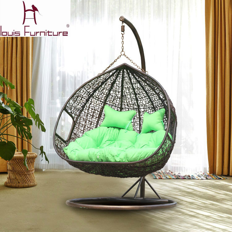 Swing Cany Chair For Garden Double Chairs Rattan Sofa Rattan Outdoor Wicker C