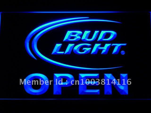 025 Bud Light Beer OPEN Bar LED Neon Sign with On/Off Switch 7 Colors to choose