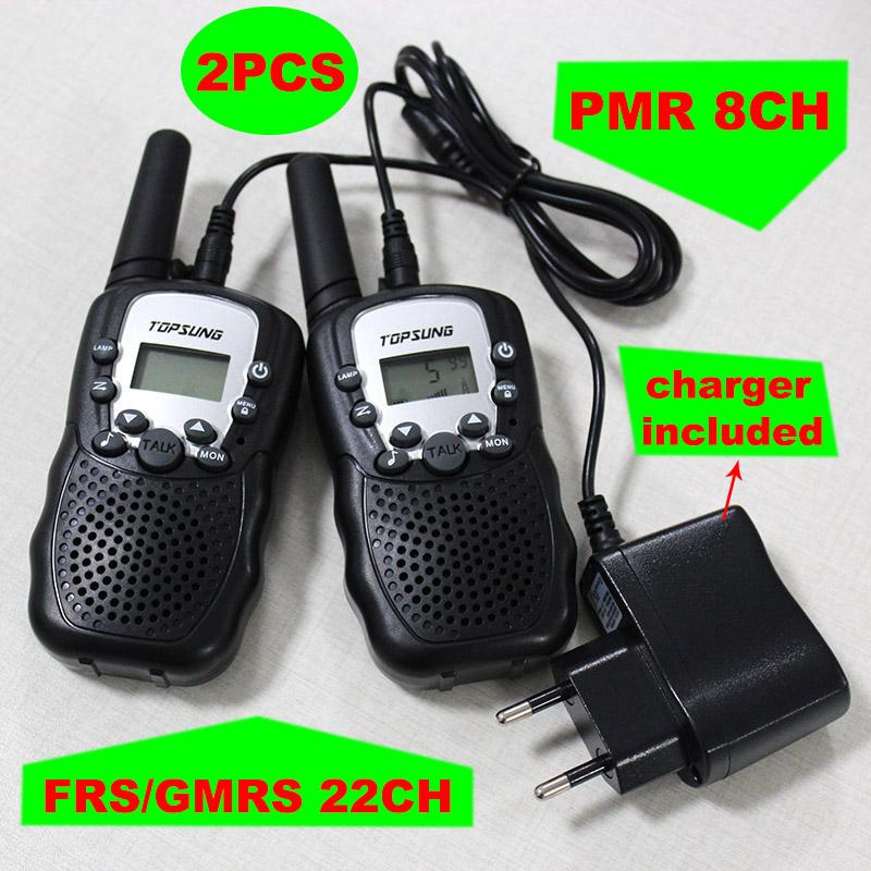 2pcs walkie talkies T388 PMR446 mobile radio communicator VOX FRS/GMRS talkie radios led flashlight + EU or US charger plug(China (Mainland))