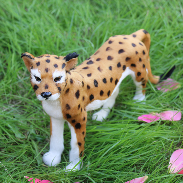 Handmade Artificial Fur Simulated Furry Leopard Toy For Sale(China (Mainland))