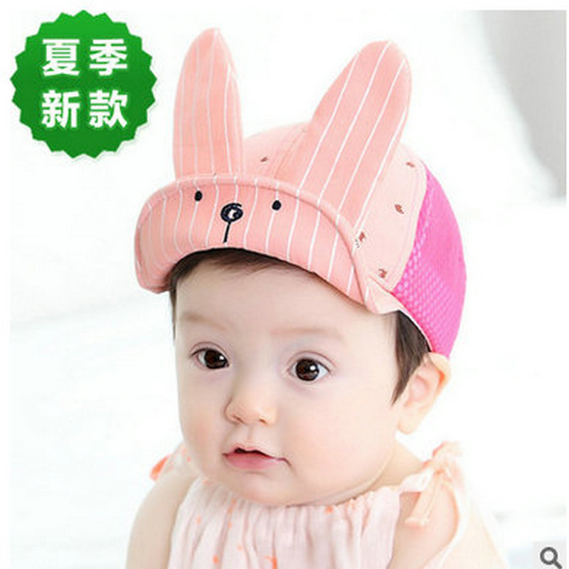 Lovely Rabbit Fold Floppy Brim Summer Beach Flanging Sun Hats Mesh Cool Kids Baby Infants Visors Caps Outdoor Casual Headwear(China (Mainland))