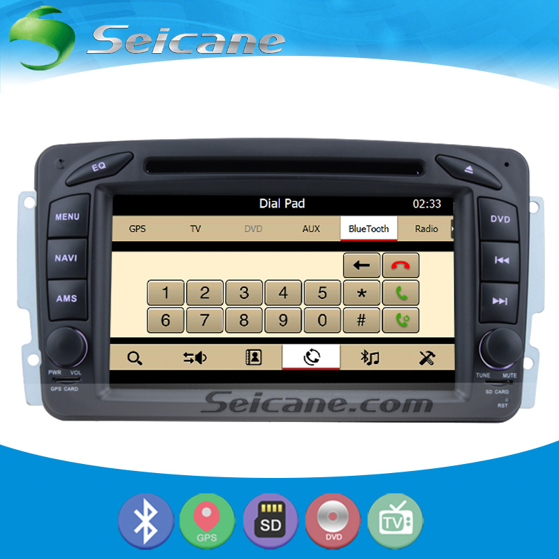 Seicane S127507D Cheap GPS Navigation System Radio For 2000-2005 Mercedes Benz C W203 With DVD Player Bluetooth 1080P Video(China (Mainland))