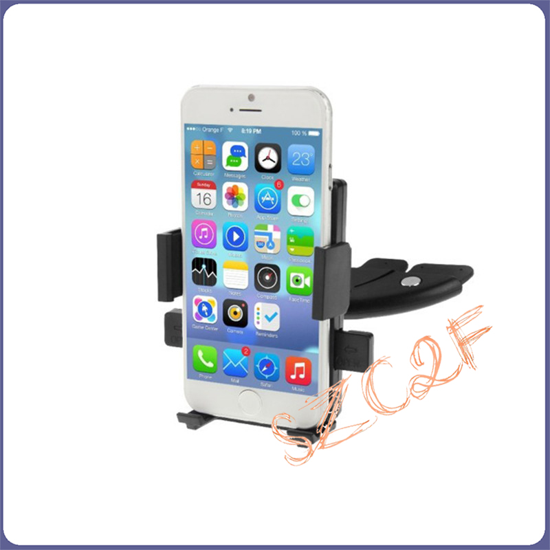 For iphone 6 6S Plus Universal 360 Rotating Car CD Slot Player Mount Smartphone Holder Stand For Samsung LG Mobile Phone(China (Mainland))