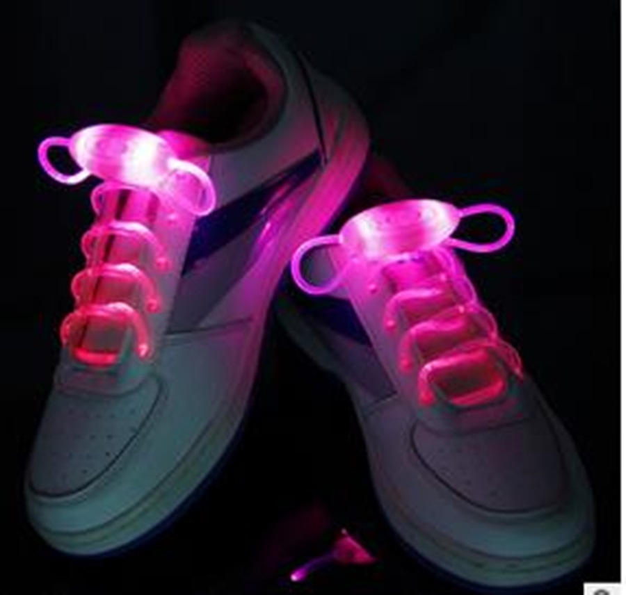 COOL Multicolors Light Up LED Shoelaces New Fashion Flash Shoes Laces Disco Party Glowing Night Shoes Strings DDSLA1002-2(China (Mainland))