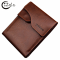 Double Hasp Retro Wallet W031 2016 New Luxury Design Separate Card Holder PU Leather Male Purse