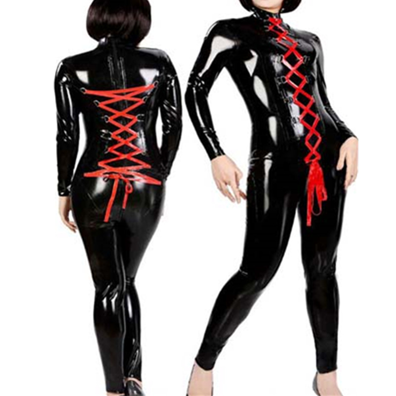 sex dat catwoman kostüm latex