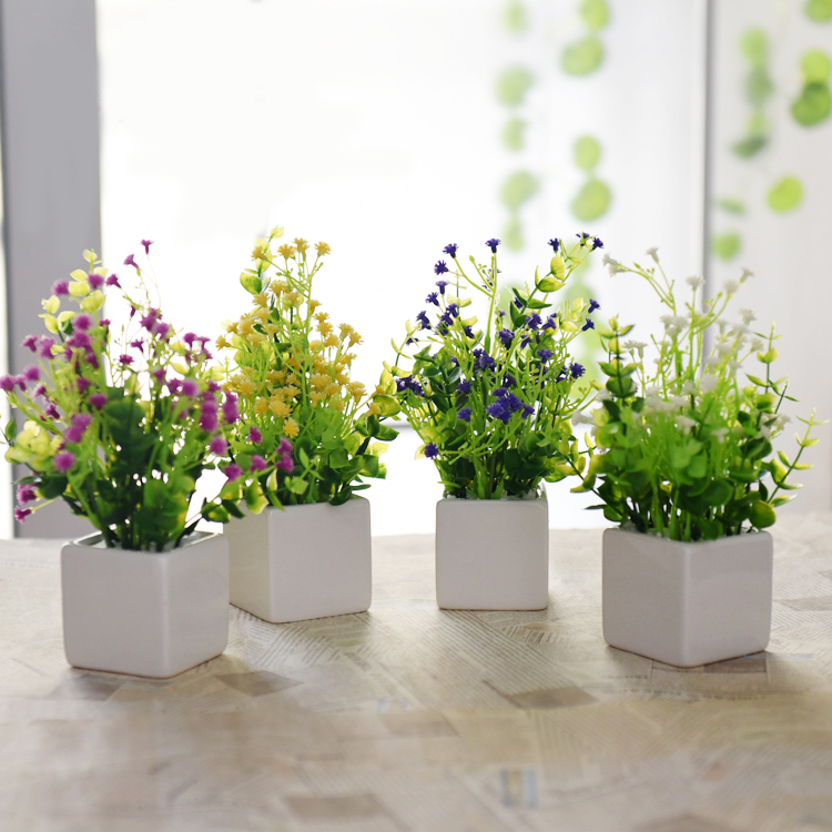 2016 hot sale simulation flower potted plant artificial Artificial flower decoration for home