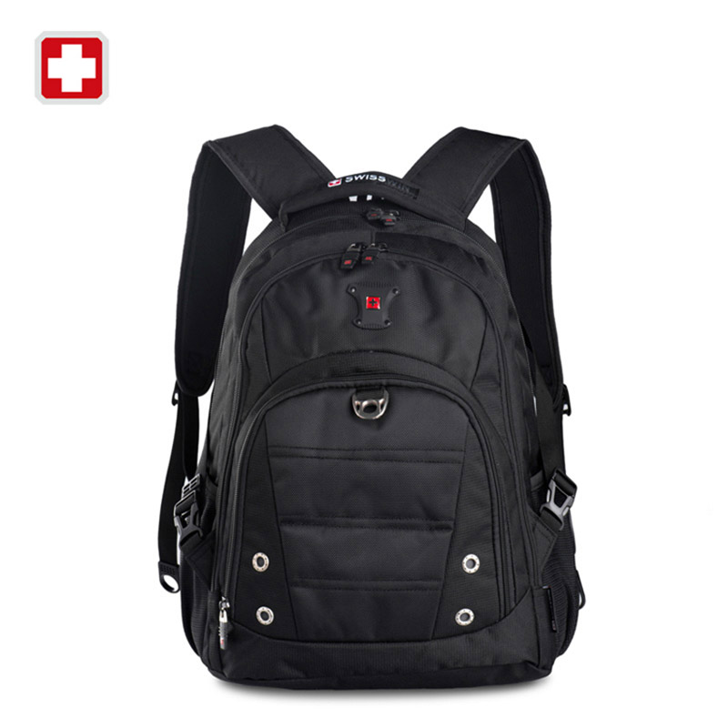 Swiss Brand Mens Casual Daypacks for 15 Laptop High Quality Waterproof Computer Bags for Teenager Black Red Mochila masculino<br><br>Aliexpress