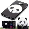 Black Design Case For Samsung Galaxy S6 G9200 Cartoon Lion Panda Soft TPU Silicone Coque Cover