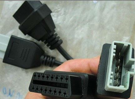 Высокое качество универсальный obd2 16pin женский открытым разъем 16 pin odb2 obd male кабель obdii