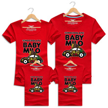 Family T Shirts Summer Cartoon Car Family Matching Outfits Clothes Mother Daughter And Father Son Short-sleeve Clothing
