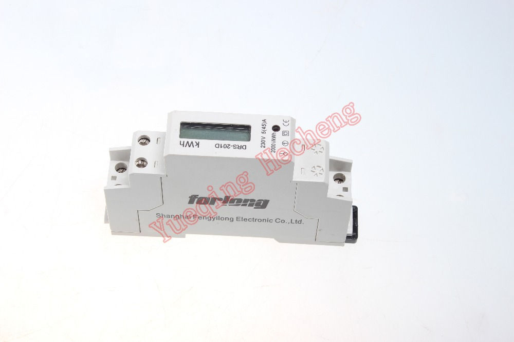 Energy Power 45 AMP LCD Digital Display Kilowatt Hour Meter Single Phase KWH DRS-201D(China (Mainland))