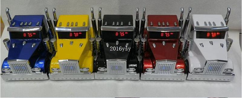Free Shipping NEW 15pcs/lot Truck Mini Speaker New Car Shaped Music MP3 USB , High Quality 3D stereo sound Mini Speaker(China (Mainland))