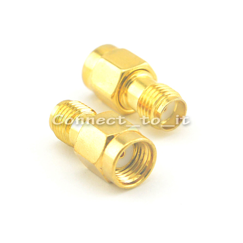 100 Pieces Wholesale Goldplated RP SMA Male Plug to SMA Female Jack RF Connector Adapter Free shipping<br><br>Aliexpress