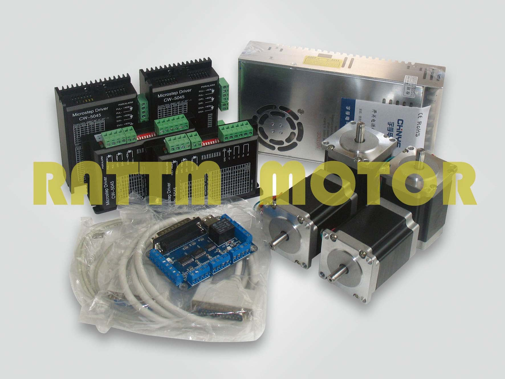 Buy 4 axis cnc controller kit 4 nema23 for 4 axis stepper motor controller