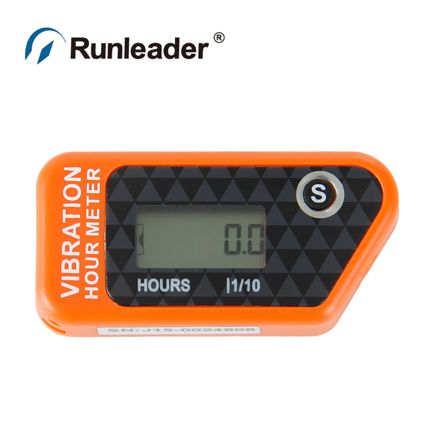 RL-HM016B Reset Wireless Vibration Hour Meter For Any Device boat jet ski tractor motorcycle buggy go cart marine dirt quad bike(China (Mainland))