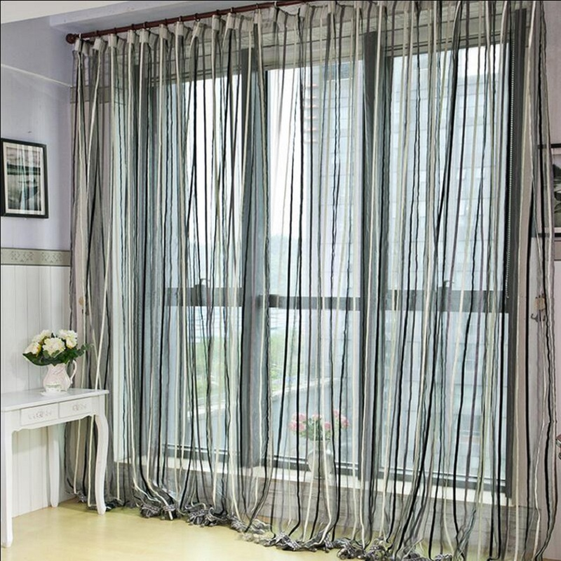 Brief modern high quality solid color linen voile curtain simple designed curtain tulle window screening ready made D069#30(China (Mainland))