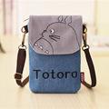 Totoro Bags Hello Kitty Sacos Baymax Totoro Wallet Women Small Cartoon Canvas Denim Purse Ladies Mini