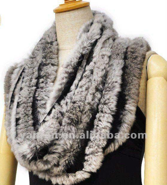 Вязание из меха шарф 51