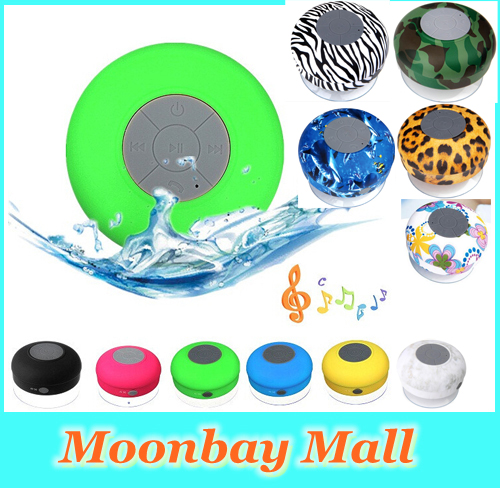 Water Resistant BTS-06 mini portable Shower Bluetooth Speaker with Sucker Support Hands-free Calls Function for mobile phone(China (Mainland))