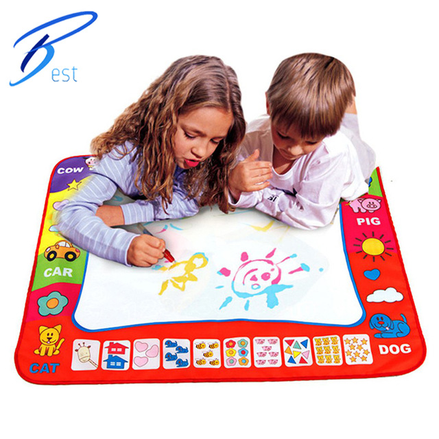HOT SALES .New Educational toys Children Aqua Doodle Drawing Toys 1 Painting Mat + 2 Water Drawing Pen(China (Mainland))