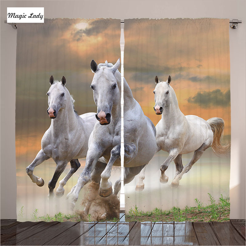 Horse curtains