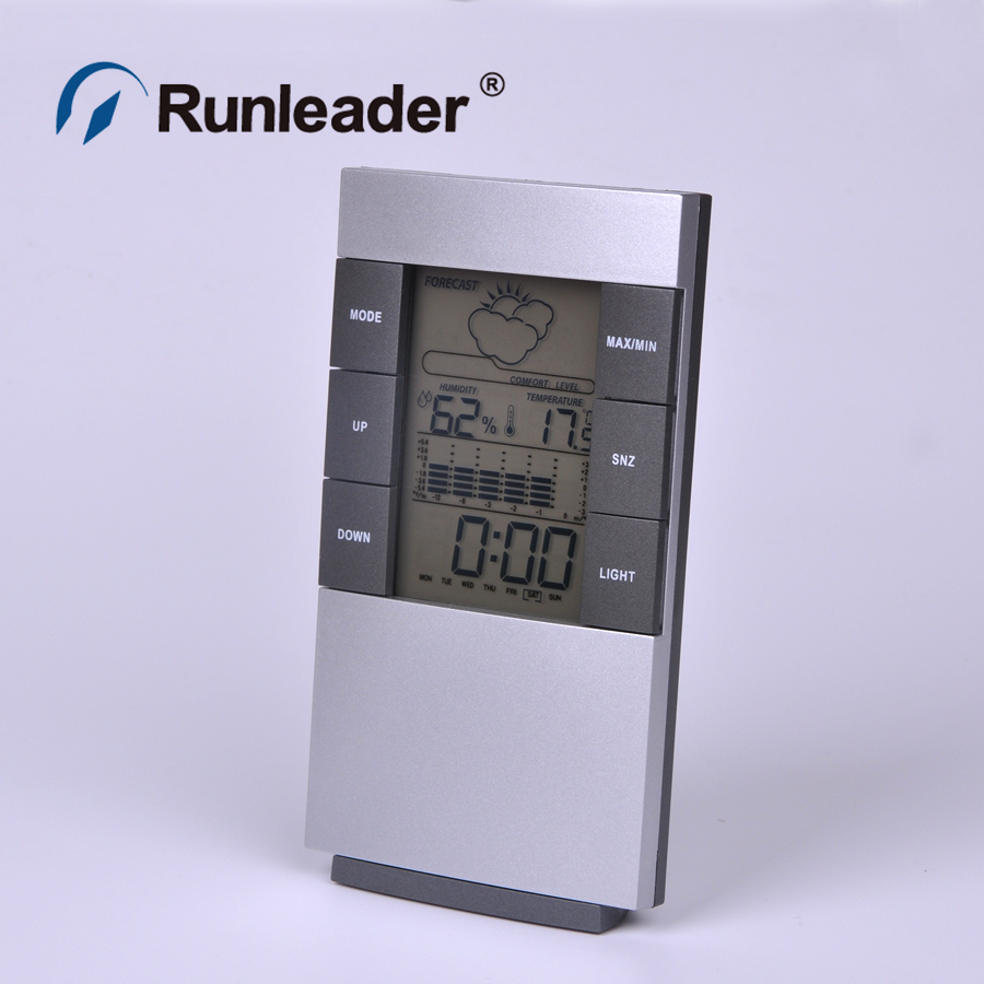 New Home Humidity Thermometer LCD Digital Hygrometer Temperature Meter Clock(China (Mainland))