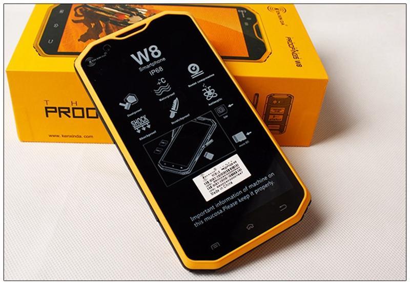 2016 Latest 5.5 inch 4G Octa-core 3 proofings Rugged Smartphone Kenxinda W8