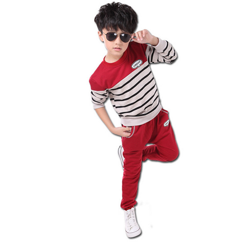 2016 New Kids Tracksuit Boys Clothing Set 95% Cotton Active For Sport Suit Children Clothes Child Tracksuit Garment Boy Outfits(China (Mainland))