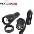 100 Authentic G700 CREE XM L T6 3800LM tactical cree led flashlight zoomable torch lamp light