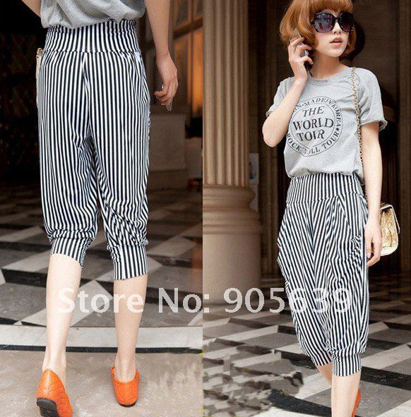 Striped Pants Women