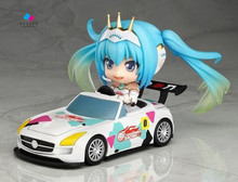 Kissen Anime Hatsune Miku Racing Miku Cute Nendoroid 517# PVC Action Figure Collectible Model Toy 4″ 10cm