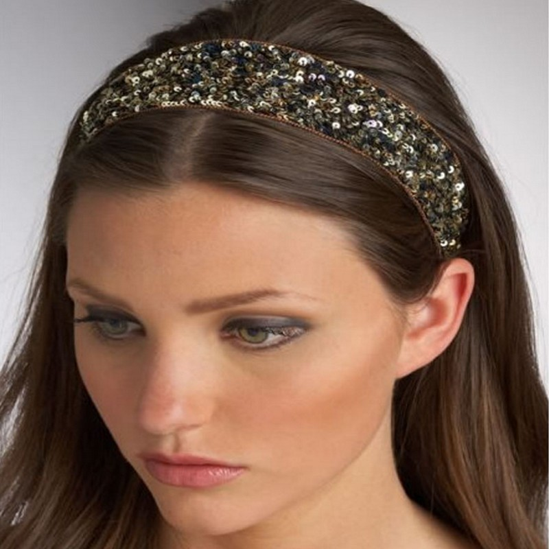 This soft but strong and durable fabric is full of flapper Sparkle. These Glittery Sequined elastic stretch fashion and sports head bands are made of a high quality sequin poly elastic blend.