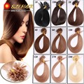 Hot Selling 18 20 22 24 Italian Keratin U tip Nail Tip Hair Extension 0 5g