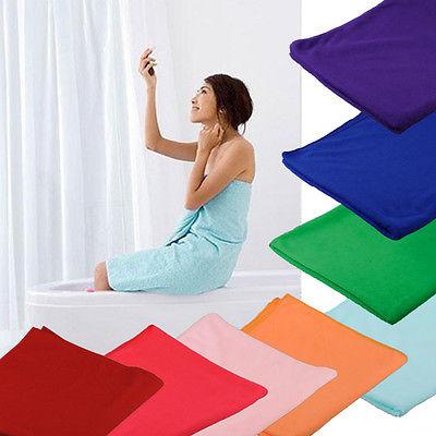 Hot Selling 70x140cm Absorbent Microfiber Beach Bath Towel Drying Washcloth Swimwear Daily Free Shipping
