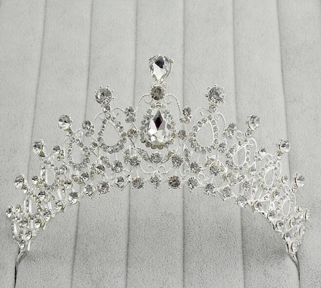 1pcs/lot bridal tiara crown wedding hair accessories jewelry for wome lady headwear silver plated fashion design(China (Mainland))