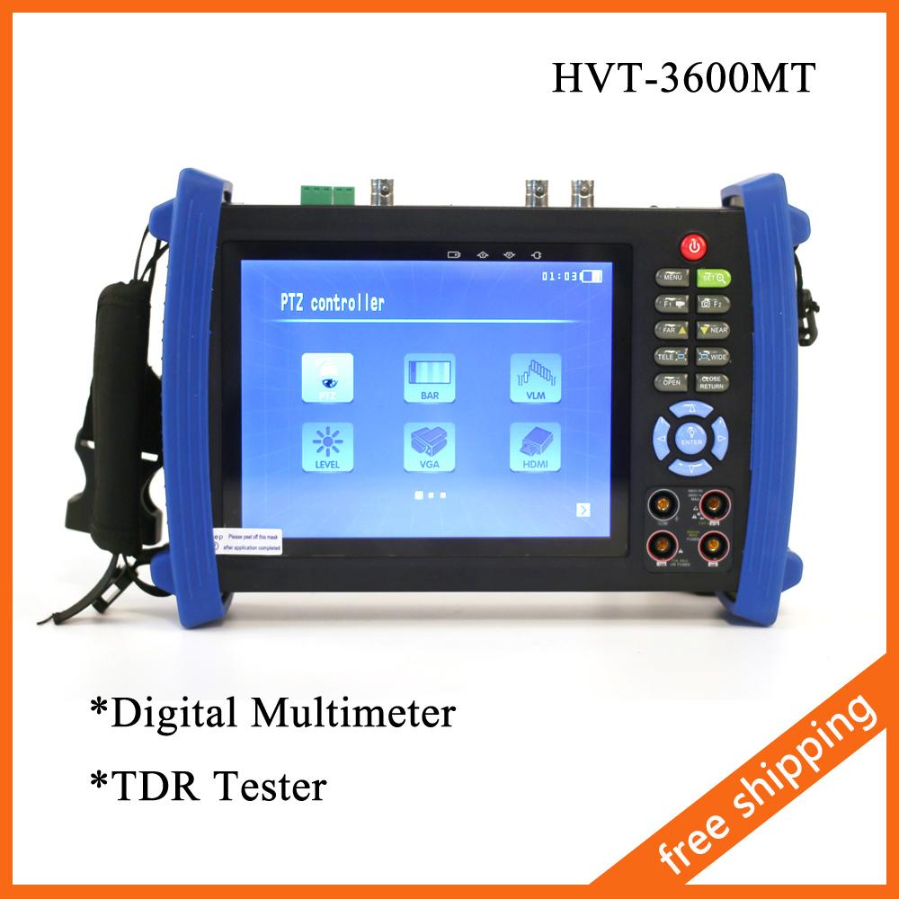 """7"""" CCTV Security Tester CCTV Camera Tester Test Monitor HDMI VGA 12V2A HVT-3600MT Digital Multi-meter+TDR Cable Test(China (Mainland))"""