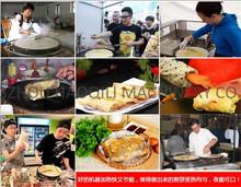Gas stove pancake machine commercial fruit pancake griddle pot furnace Flapjack crepes machine(China (Mainland))