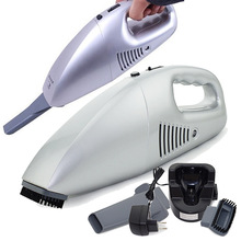Auto Accessories Wireless 25W 220V Car Vacuum Cleaner Handheld Mini Super Suction Wet Dry Dual Vaccum Cleaner For Car Silver(China (Mainland))