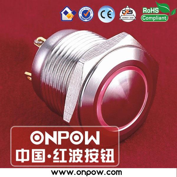ONPOW 16mm waterproof momentary illuminated pushbutton switch GQ16B-10E/J/R/12V/S(China (Mainland))