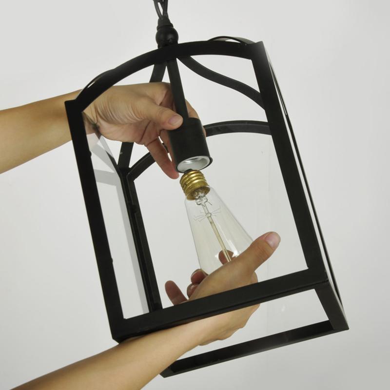 Iron+Glass American Vintage Loft Pendant Lights Lamp For Dining Room Bar Restaurant Shop Retro Pendant Fixtures Free Shipping