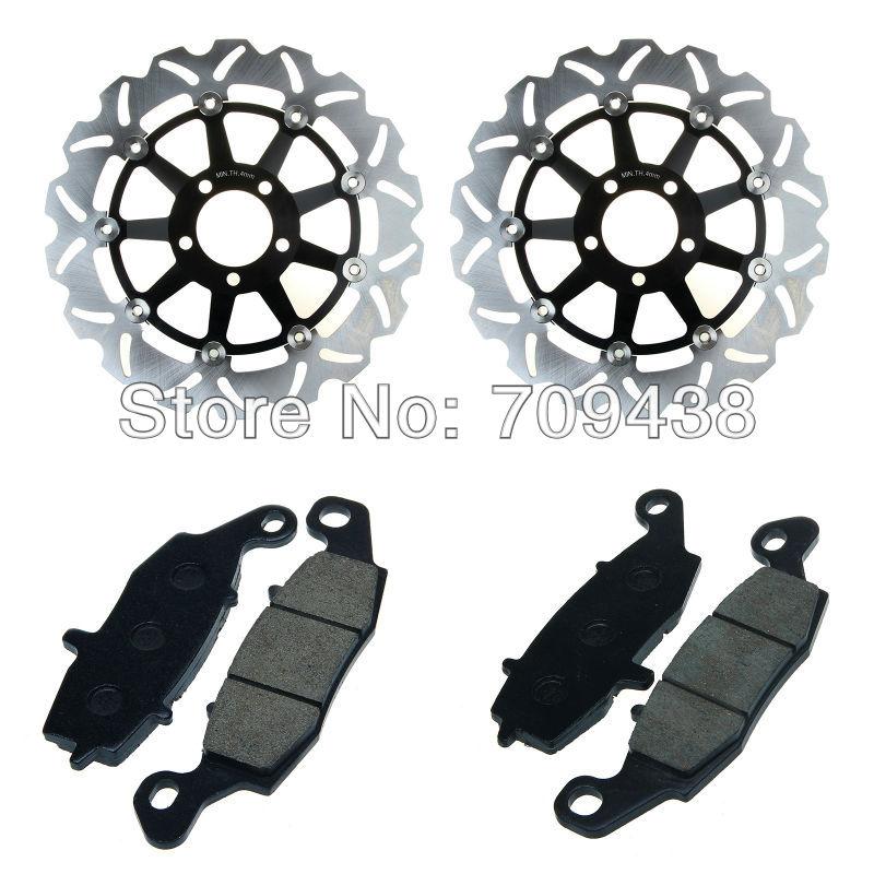 2 X Front Brake Disc Rotor+Pad For KAWASAKI Z 750 S (ZR 750) 05-07 Z750 (ZR750) 04-06 ZR-7 (ZR750) 99-04