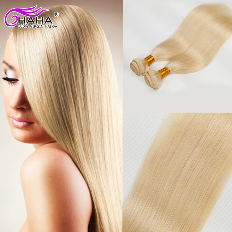 7A Brazilian Virgin Hair Straight,613 Honey Blonde Virgin Hair 8