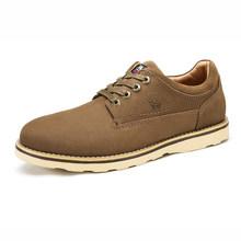 CAMEL Tooling mannen Schoenen Winter Mode Echte Koeienhuid Casual Comfort Scrub Lederen Schoenen Mannen Outdoor/Business Schoenen(China)