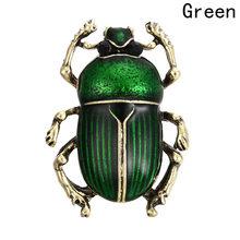 Nuovi Monili Dell'annata Beetle Spille Per Le Donne Bambini Smalto Verde Viola Insetti Animali Spilla Gioielli(China)