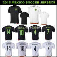 Aaa 2014 fans versie mexico-professioneel-efficiënt-concurrerend weg rode/r zwart. Marquez chicharito o. Peralta r. Jimenez lange mouw beste kwaliteit soccer jersey